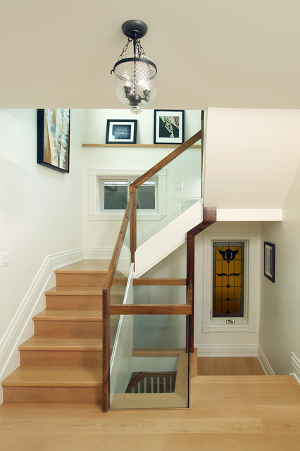 Attic Renovation Modern Staircase