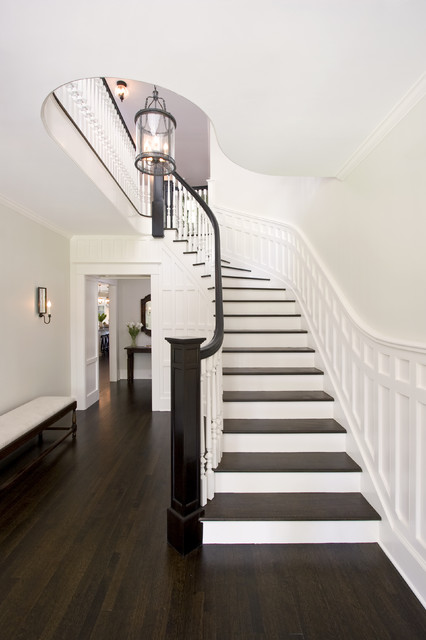 Award Winning Curving Stair traditional-staircase
