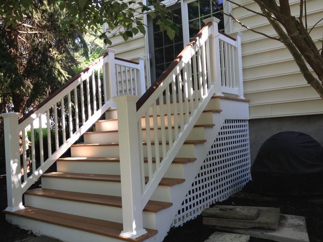 Azek Steps And Landing Traditional Staircase