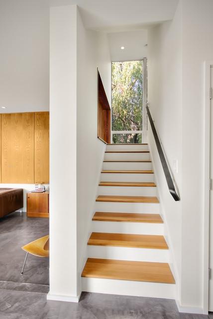 Backyard House contemporary-staircase