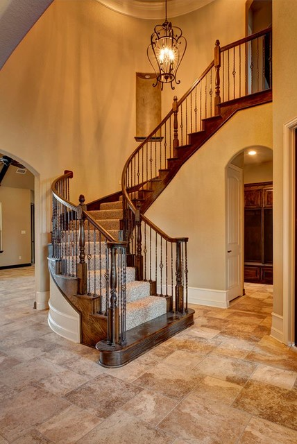 Bailee custom homes traditional staircase dallas for Custom staircase design