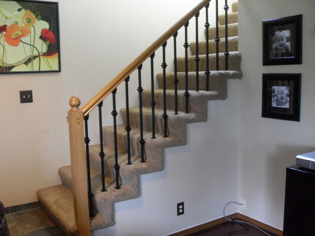 Baluster replacement - Traditional - Staircase - portland ...