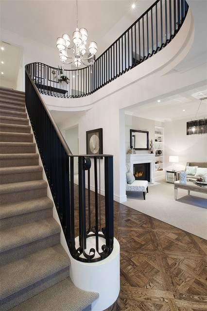 Balwyn North, Stairs and Parquetry flooring traditional-staircase