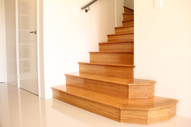 Bamboo Stair Treads Traditional Staircase