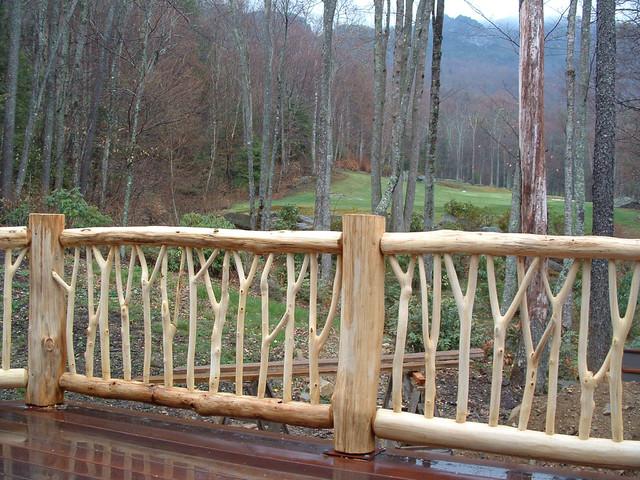 Bark House 174 Handrails Locust Y Branch Rustic