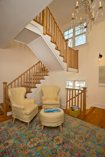Barn reinvented leed platinum home country staircase for Room 4 design leeds