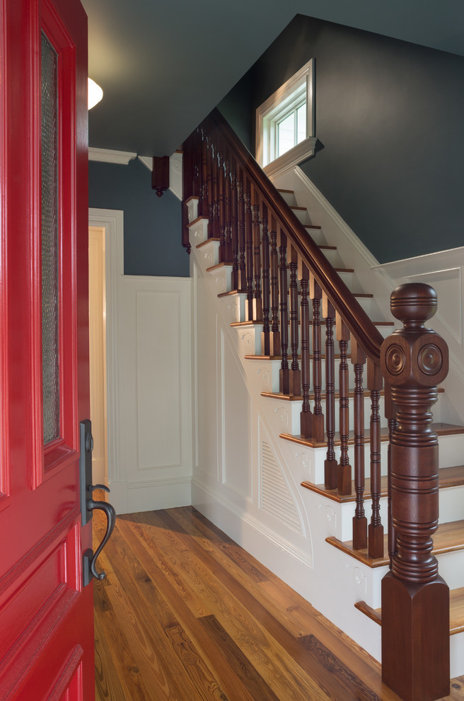 Staircase - country staircase idea in Providence