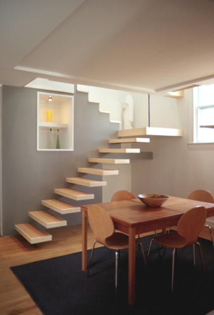 Barry Residence | Shotgun House Remodel - Modern - Staircase ... on