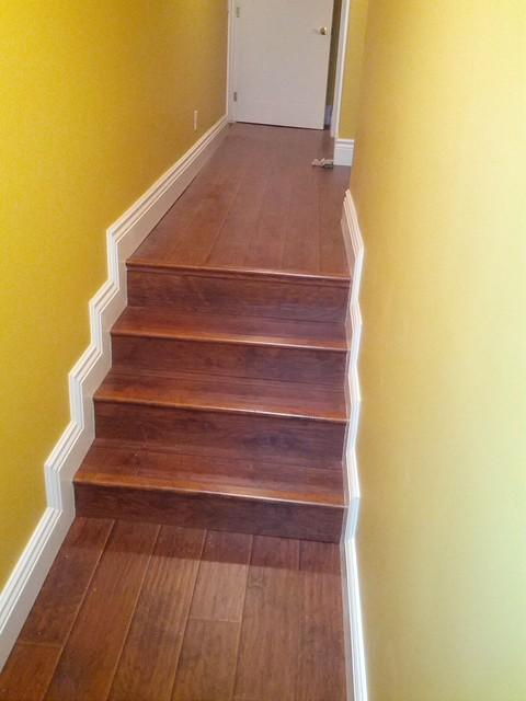 basement laminate flooring traditional staircase