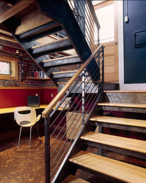 Basement Loft contemporary-staircase
