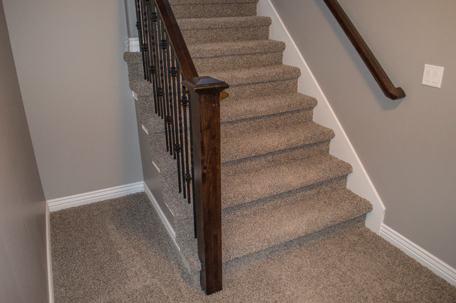 basement open rail option traditional staircase