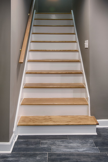 Attractive Basement remodel - Contemporary - Staircase - Nashville - by  LR34