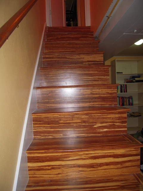 Basement remodel eclectic-staircase
