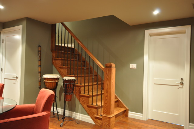 basement renovation 1 transitional staircase other by