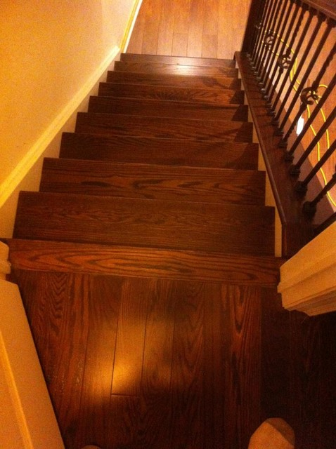 basement stair case renovation modern staircase toronto by