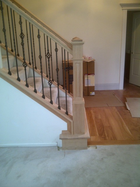 Basement Stair Options Traditional Staircase Chicago