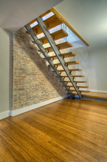 basement staircase modern staircase other by moss building and