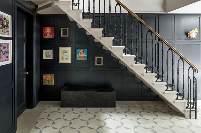 Delightful Basement Staircase Traditional Staircase