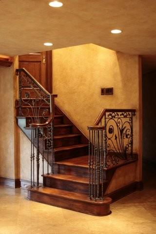 Basements mediterranean-staircase