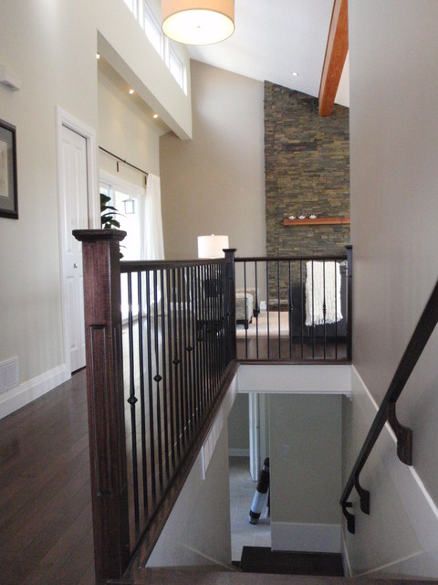 Beach Grove Renovation transitional-staircase