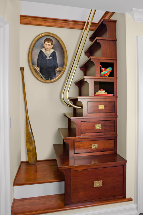 Bed Over Stair Box With Storage And Stairs: 10 Clever Designs For Staircase Storage