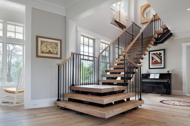 Beach House Delight Beach Style Staircase Dc Metro