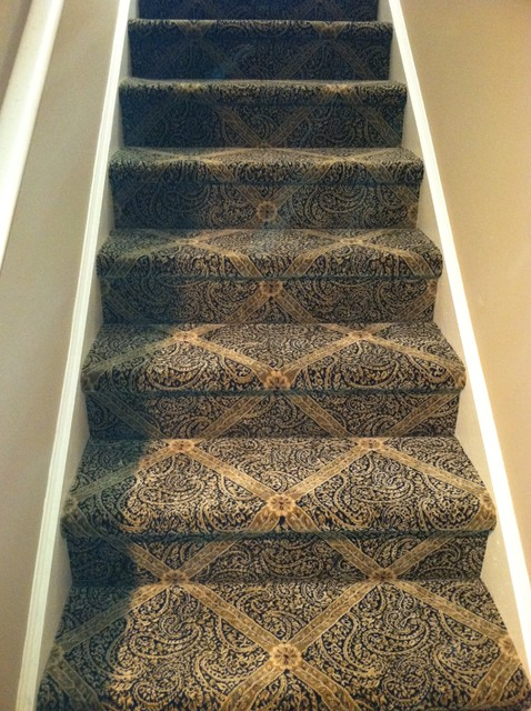 Beautiful Patterned Carpet For Your Stairs Traditional