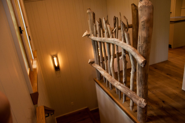 Beaver Wood Stair Rail Rustic Staircase Other by