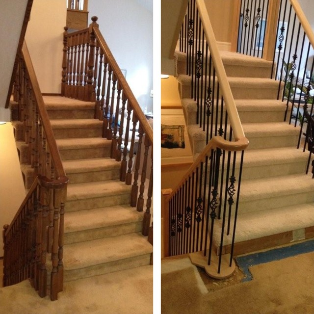 Superb SPINDLE STAIRS U0026 RAILINGS Staircases U0026 Railings. BEFORE AND AFTER  Traditional Staircase