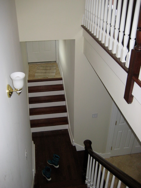 Before: Back Entry Burling Home traditional-staircase