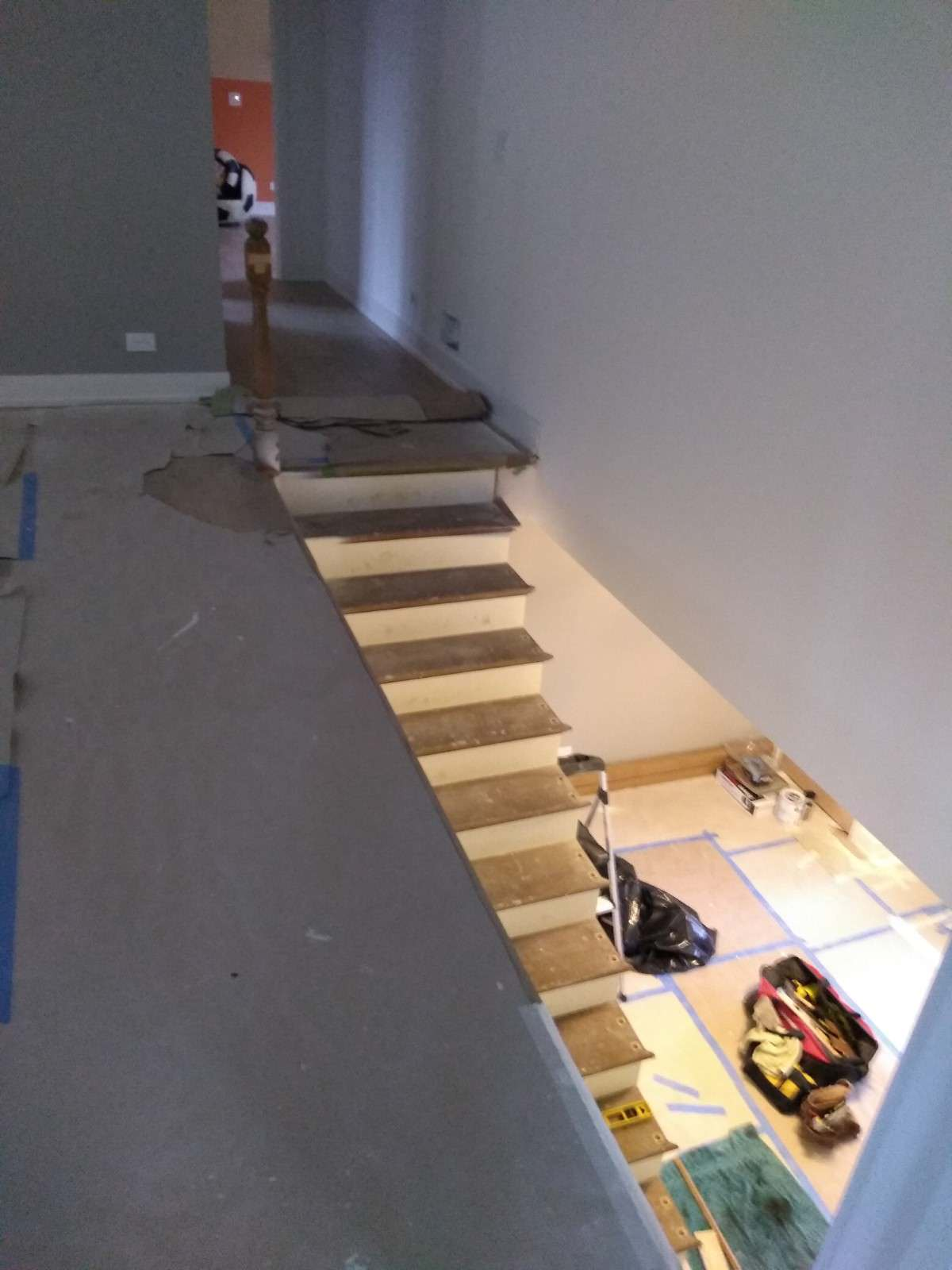 Before photo stairs