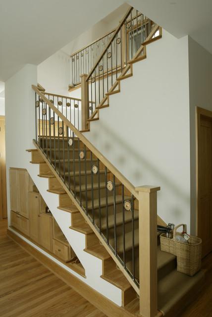 Bellaire Solar Home modern-staircase