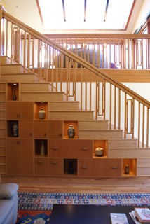 Rubin stairs asian staircase seattle by cleary design studio llc - Japanese bathrooms gadgets and practical sense ...
