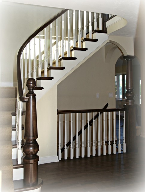 beneath the mound renovation traditional staircase. Black Bedroom Furniture Sets. Home Design Ideas