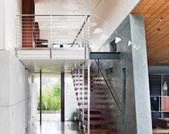 Berkeley Courtyard House contemporary-staircase