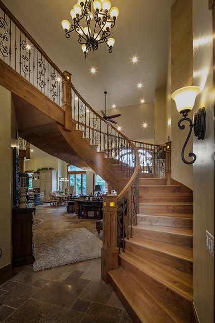 Berkshires residence traditional-staircase