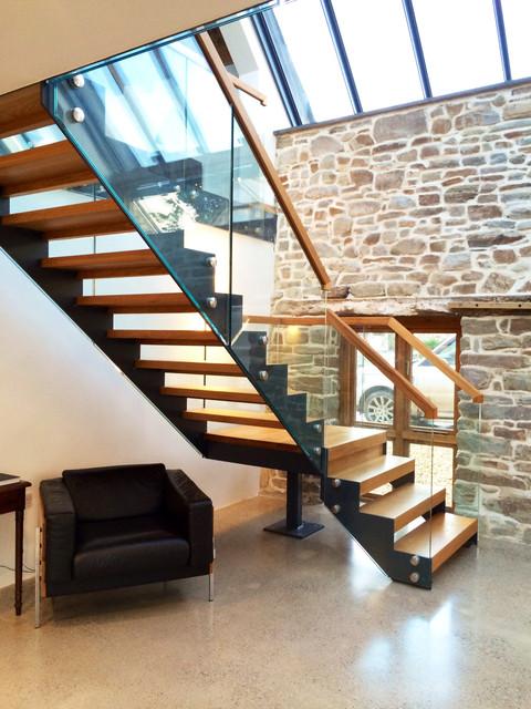 Bespoke Staircase   Barn Conversion Cornwall Contemporary Staircase