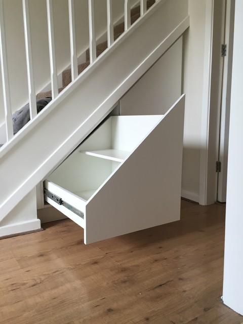 Bespoke Under Stairs Shelving: Bespoke Under Stairs Storage Drawers