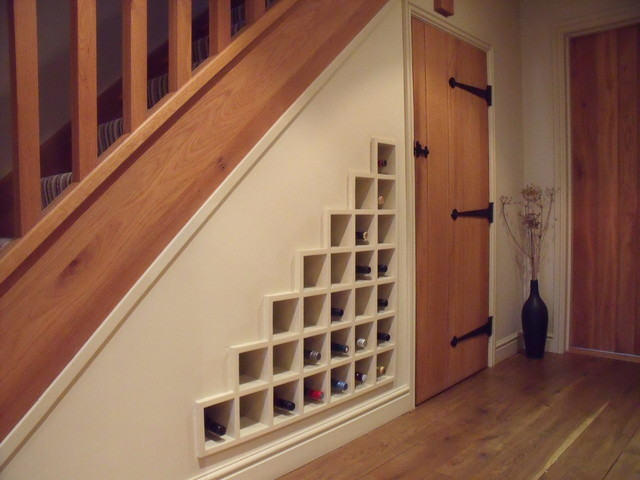 Bespoke Under Stairs Shelving: Bespoke Wine Storage
