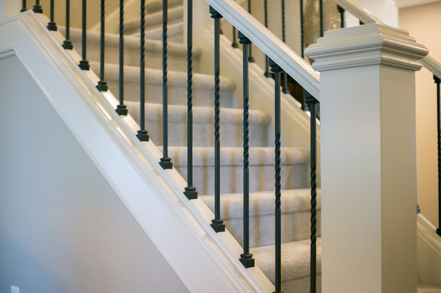 Staircase - transitional staircase idea in Portland
