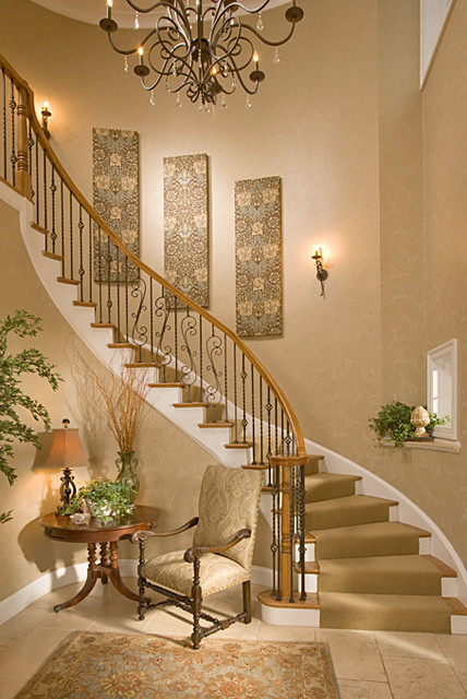 Bethesda foyer traditional staircase dc metro by for Traditional foyer decorating ideas