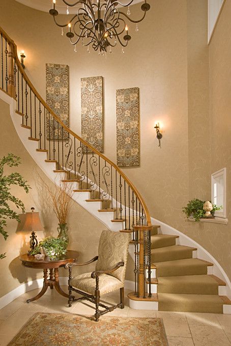 Traditional staircase design by dc metro interior designer suzanne