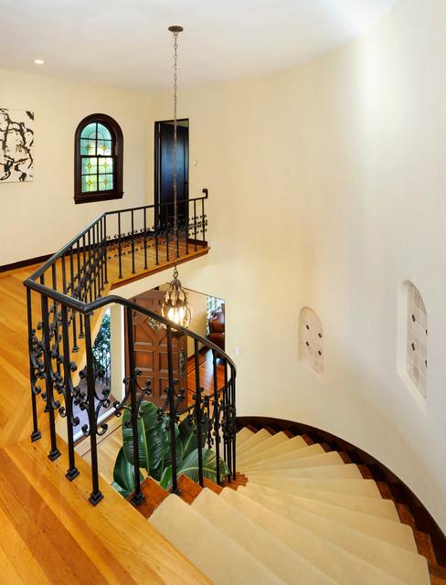 Black Mountain Residence mediterranean-staircase