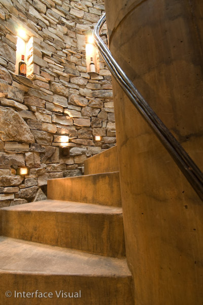 Black Ridge Vineyards traditional staircase