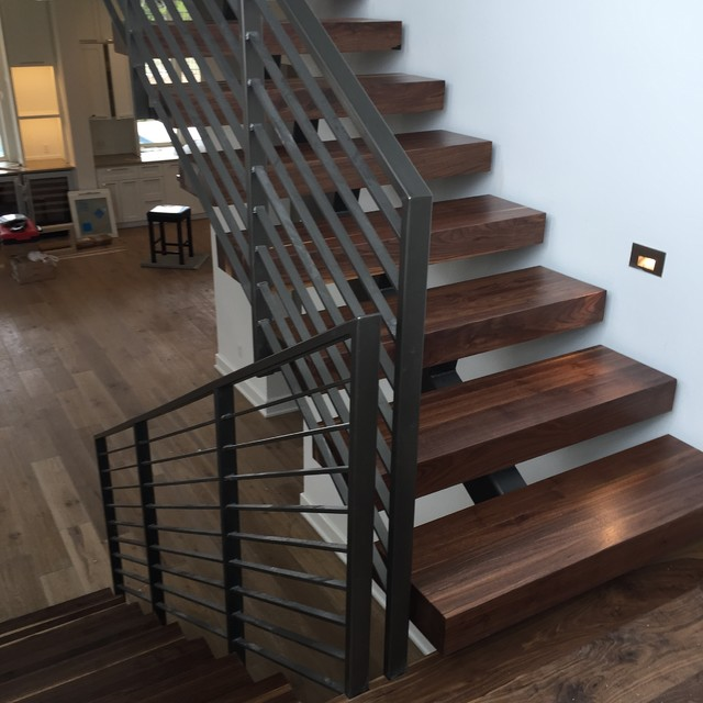 Black Walnut 4quot Stair Treads Contemporary Staircase  : contemporary staircase from www.houzz.com size 640 x 640 jpeg 78kB