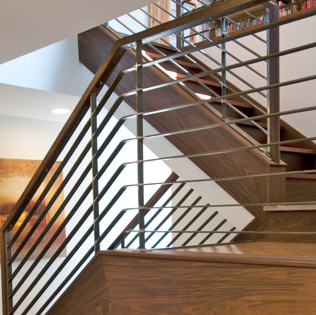 Blue Ridge Contemporary Northwest Remodel contemporary-staircase