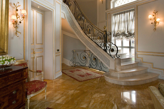 Traditional staircase in Turin.
