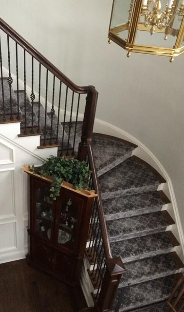 Inspiration for a timeless staircase remodel in Bridgeport