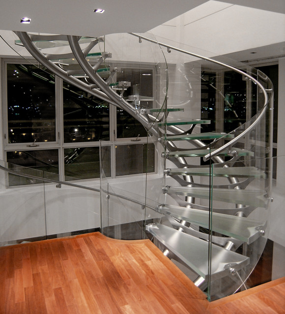 Boston Condo modern-staircase