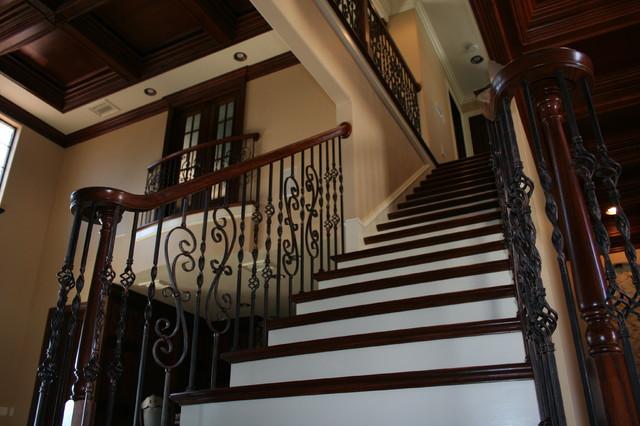 Box Newel & Spiral Volute Hybrid Theme mediterranean-staircase